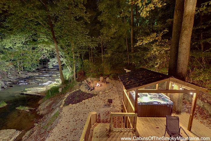 Pigeon Forge Cabin Waterfall S Edge 3 Bedroom Sleeps 8