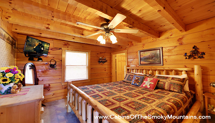 Pigeon forge cabin honey bear retreat 2 bedroom - 1 bedroom cabins in pigeon forge under 100 ...