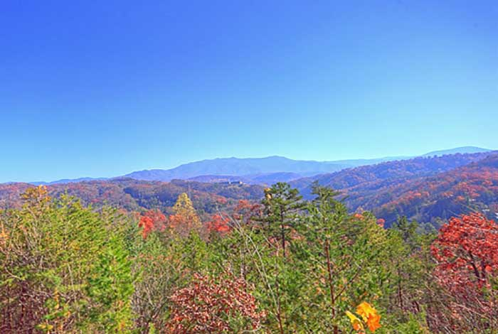 Pigeon forge cabin national park sunsets 2 bedroom for Eagles view cabin sevierville tn