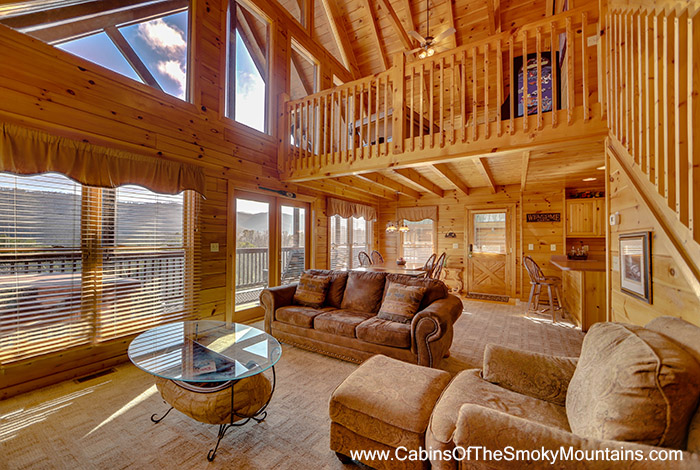 Pigeon forge cabin audacious 2 bedroom sleeps 6 for 6 bedroom cabins