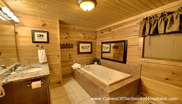 Pigeon Forge Cabin Rustic Splash 1 Bedroom Sleeps 6 Jacuzzi Swimmin
