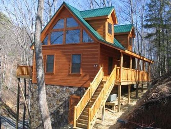 Pigeon Forge Cabin Huddy Bear Hideaway 1 Bedroom Sleeps 4 Jacuzzi Loft