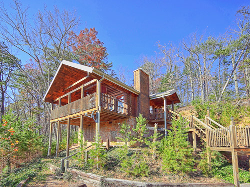 Pigeon forge cabin brave eagle from for Smoky mountain cabin specials