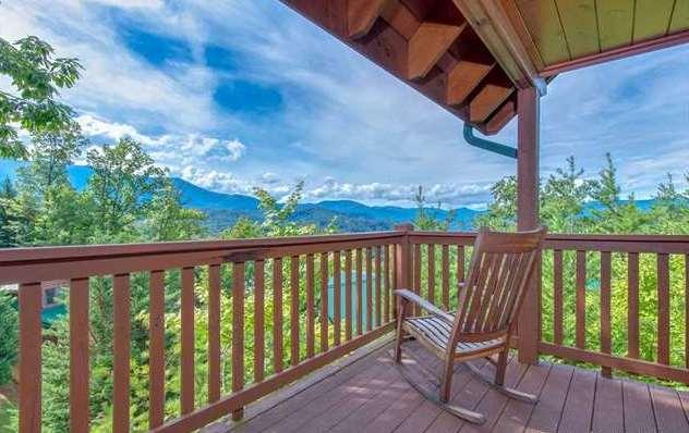 Gatlinburg cabin chimney tops overlook 4 bedroom - Gatlinburg falls resort swimming pool ...