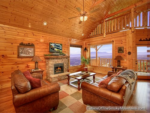 Pigeon Forge Cabin Heavenly High 1 Bedroom Sleeps 6