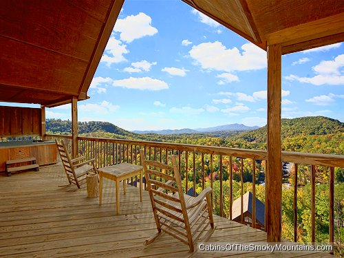 Pigeon Forge Cabin   Mountain High View   1 Bedroom   Sleeps 4   Jacuzzi    Swimming Pool Access