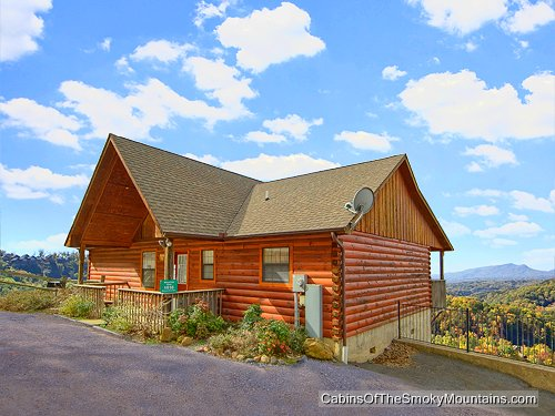 Pigeon Forge Cabin Mountain High View 1 Bedroom Sleeps 4