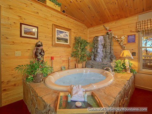 Pigeon Forge Cabin Country Lace 1 Bedroom Sleeps 4 Jacuzzi Swimming