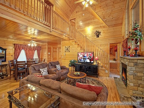 Pigeon Forge Cabin - Simple Elegance - 6 Bedroom - Sleeps 19 ...