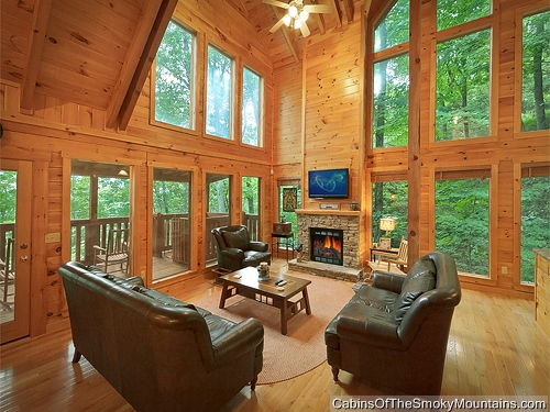 Gatlinburg cabin mountain blessing 4 bedroom sleeps for Rent cabin smoky mountains