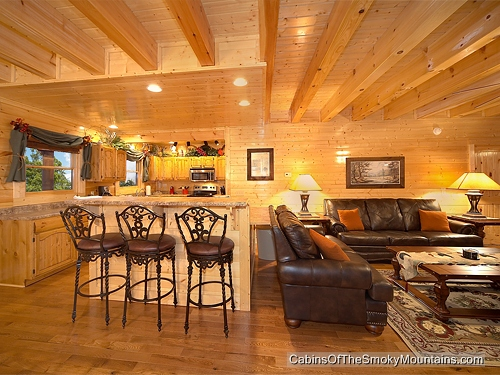Pigeon forge cabin greenbriar grace 5 bedroom sleeps 14 for Discount smoky mountain cabin rentals