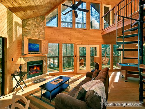 Gatlinburg cabin dreams and streams 1 bedroom sleeps for Smoky mountain cabin rental with private pool