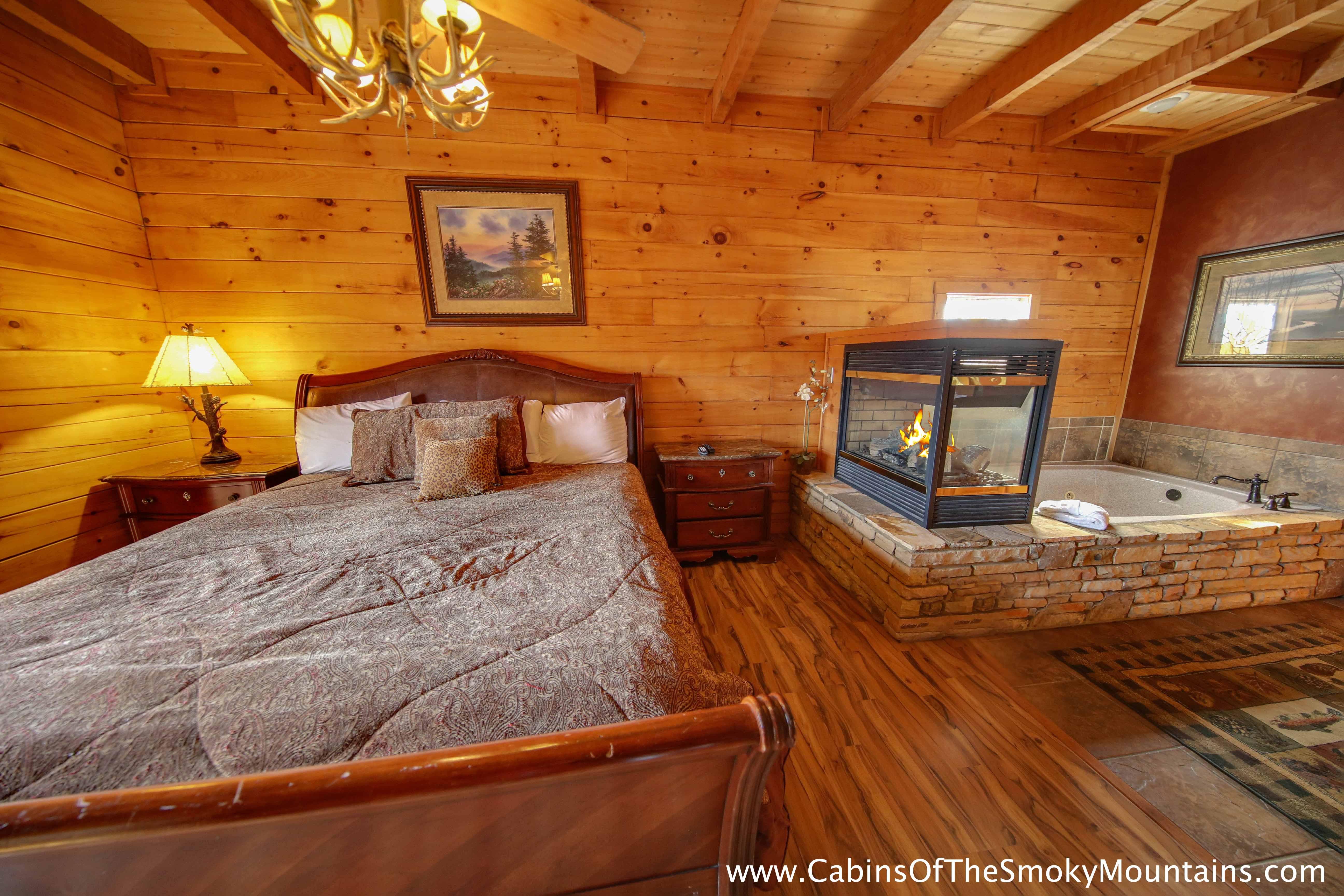 Pigeon forge cabin heaven 39 s hidden view 6 bedroom for 6 bedroom cabins