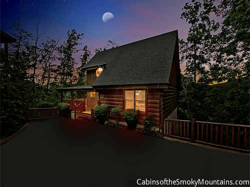 Wears valley cabin moonlight and memories 2 bedroom for Www cabins of the smoky mountains com