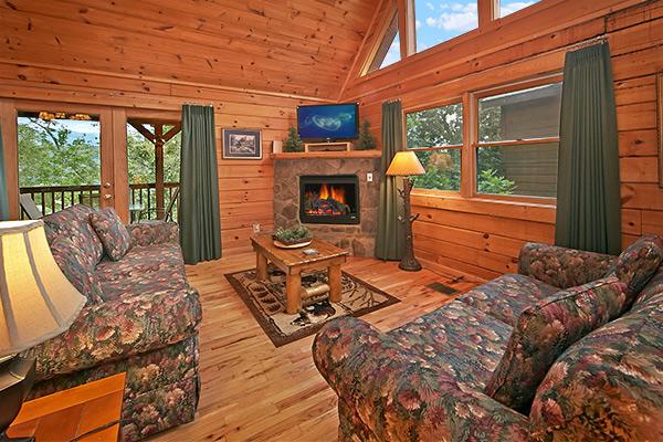 Pigeon forge cabin smoky mountain ridge 3 bedroom for 3 bedroom cabins in smoky mountains