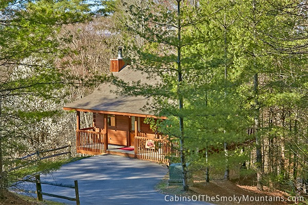 Pigeon forge cabin a secluded paradise 1 bedroom for Private secluded cabins in pigeon forge