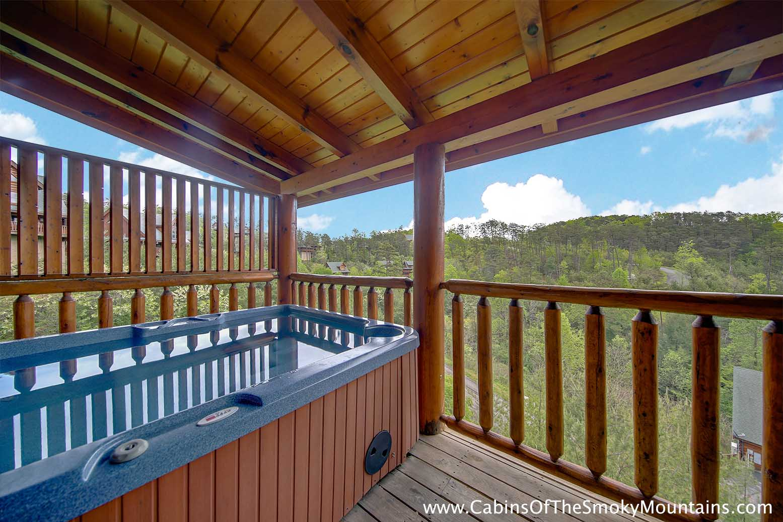 Pigeon forge cabin azalea point from for Az cabin rentals with hot tub