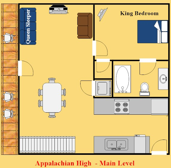 One Bedroom Cabins In Pigeon Forge: Appalachian High From $165.00