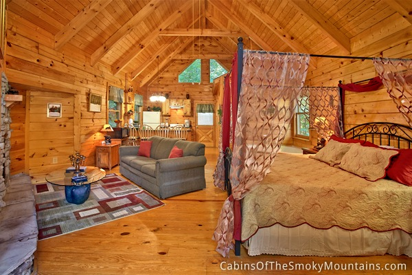 gatlinburg cabin honeymoon magic 1 bedroom sleeps 4 jacuzzi