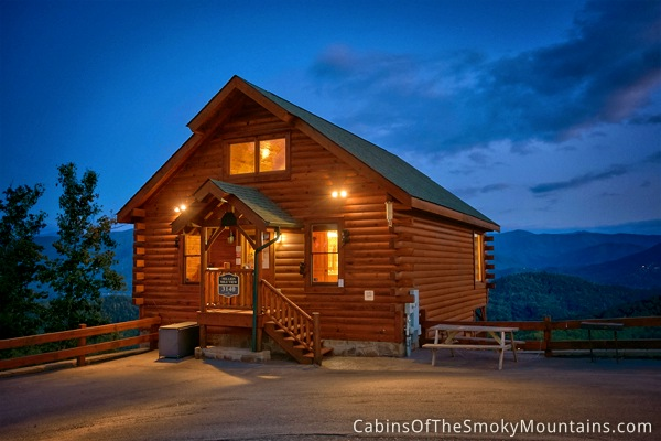 Pigeon forge cabin million mile view 1 bedroom sleeps 6 for 1 bedroom cabin pigeon forge
