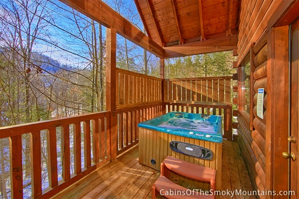 Pigeon Forge Cabin Secluded Pleasure 1 Bedroom Sleeps 4 Jacuzzi Swimming Pool Access