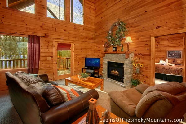 Pigeon Forge Cabin Secluded Pleasure 1 Bedroom