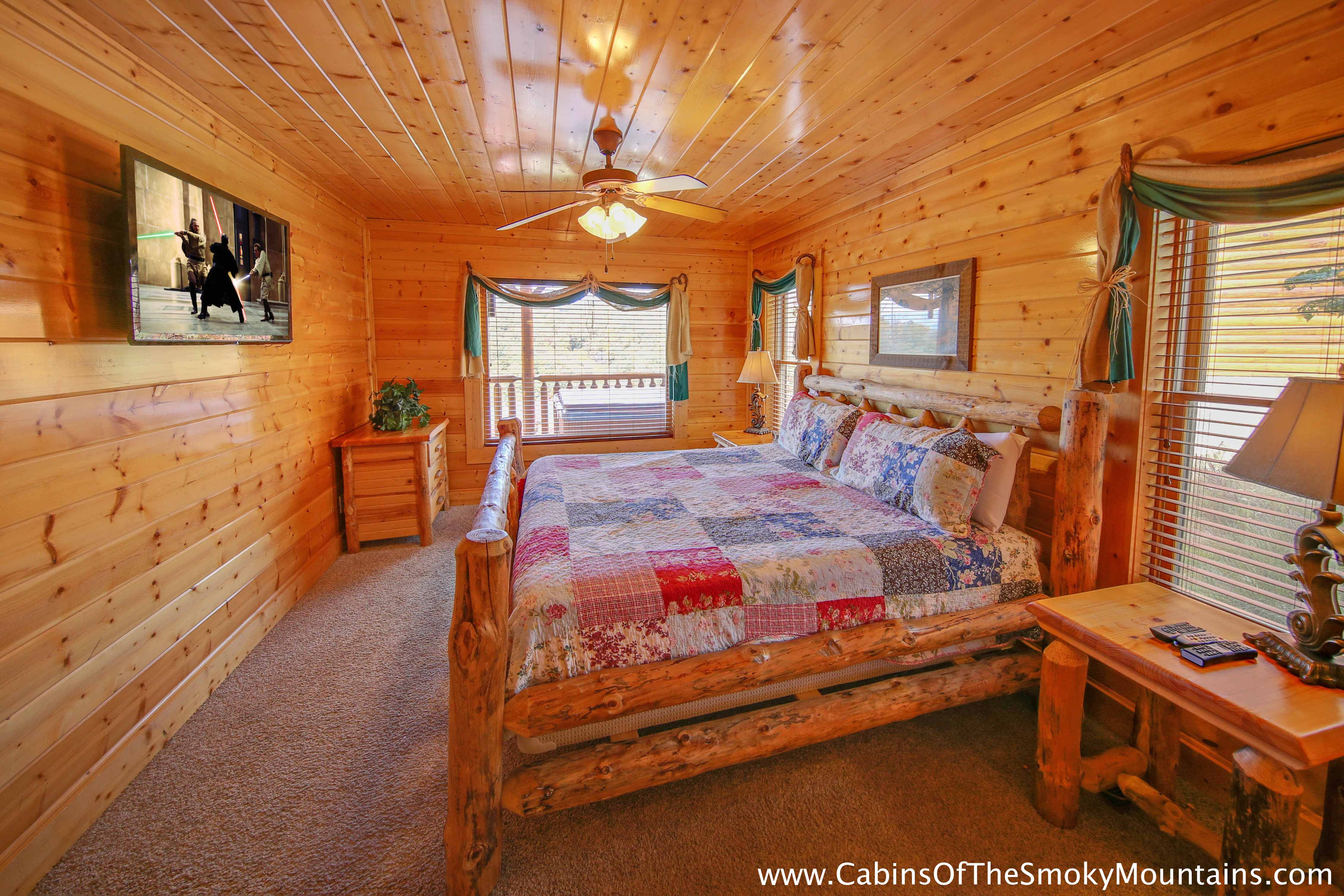 Pigeon forge cabin elizabeth 39 s view 1 bedroom sleeps - 1 bedroom cabin in gatlinburg tn ...