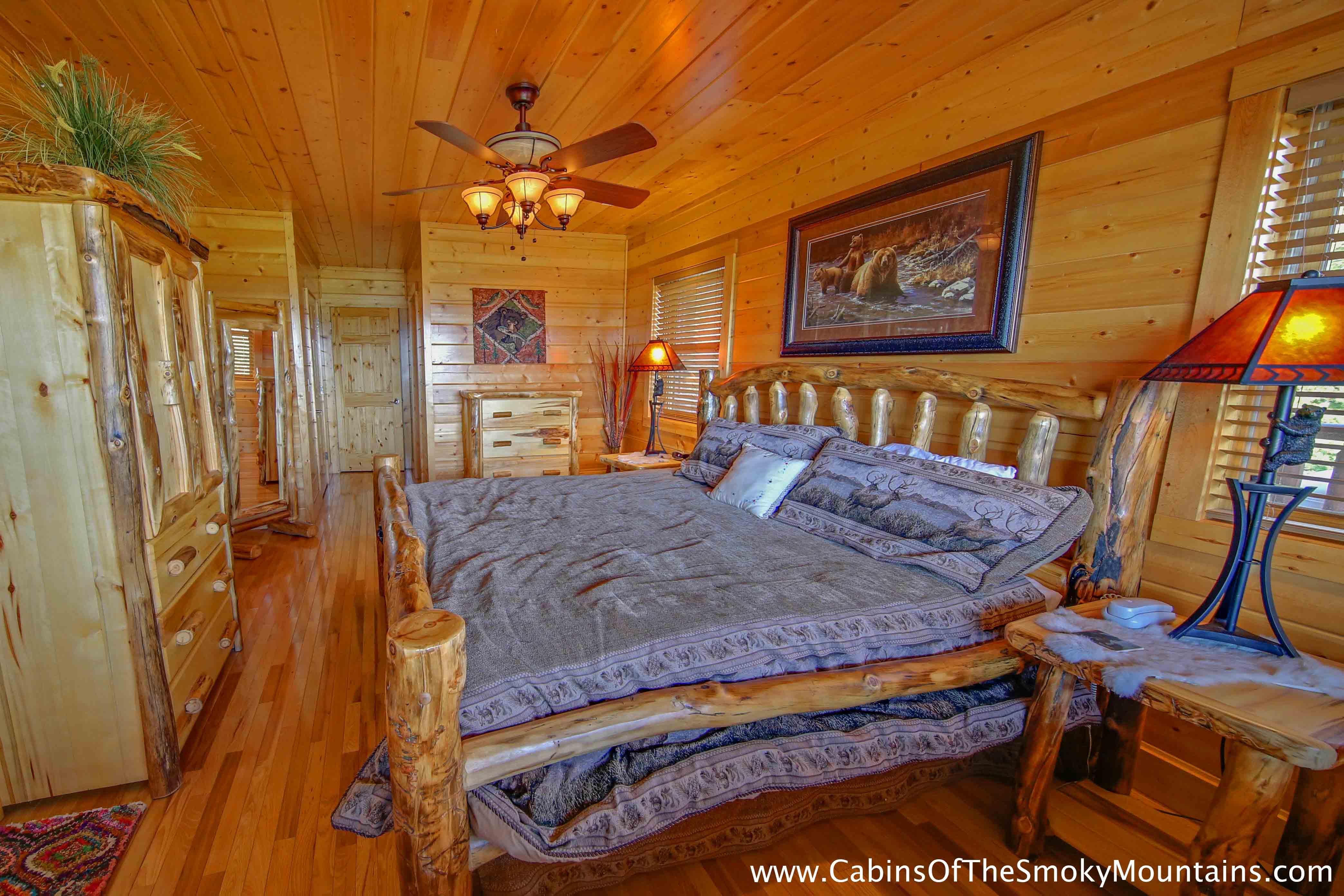Pigeon Forge Cabin Heavenly Vista At Crown Point 4 Bedroom Sleeps 14