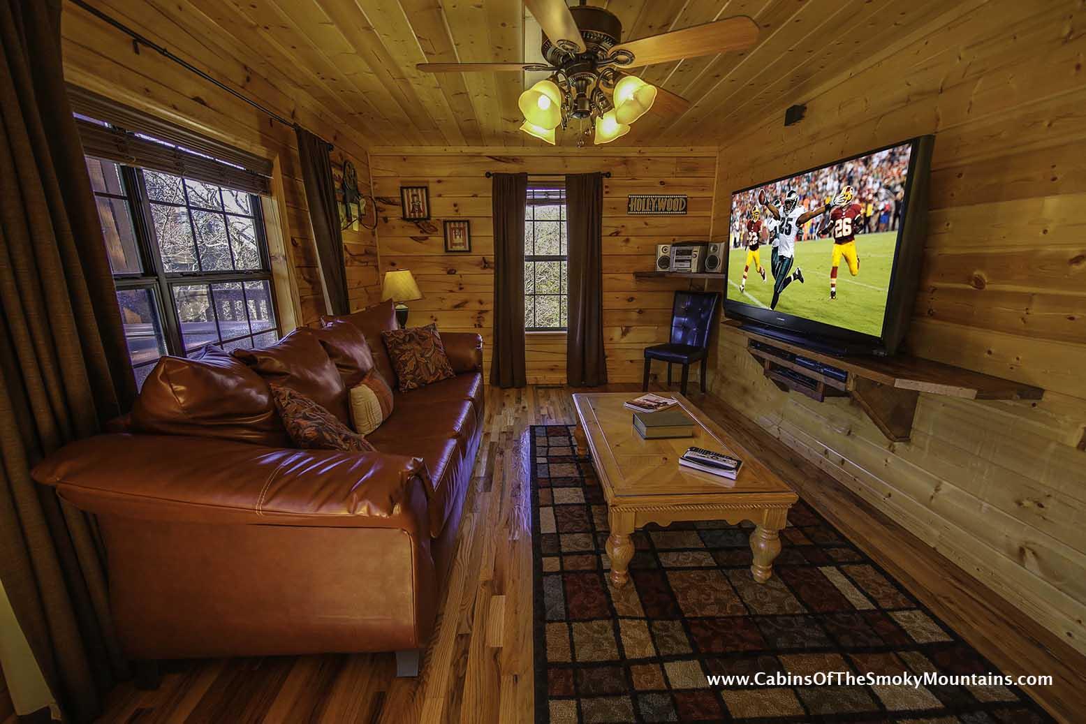 Pigeon forge cabin grand getaway 4 bedroom sleeps 10 jacuzzi home theater swimming - Bedroom cabins in gatlinburg ...