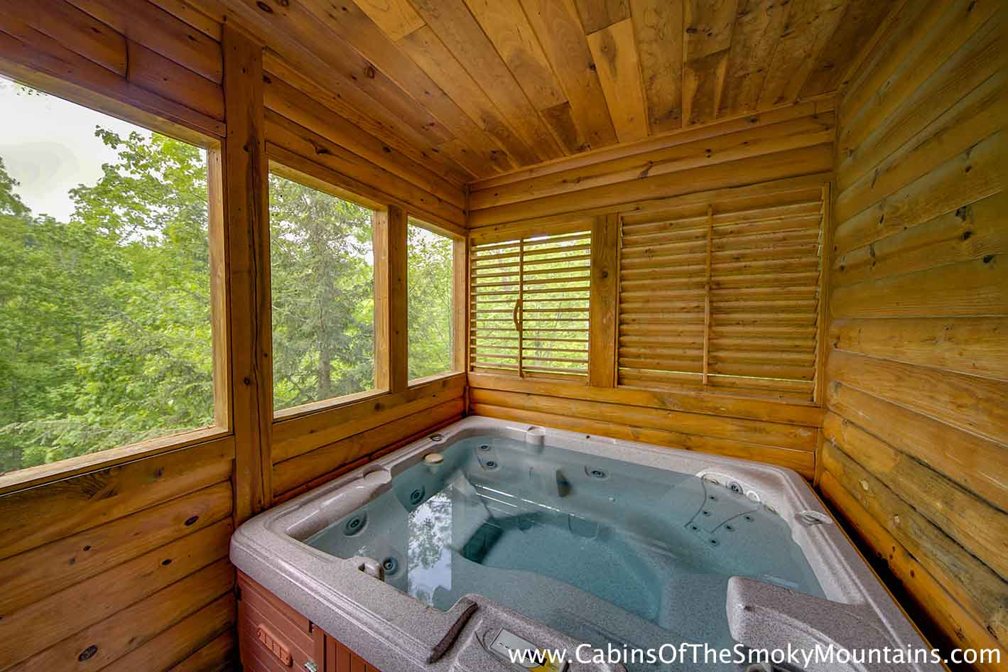 Pigeon forge cabin easy does it 4 bedroom sleeps 15 - 7 bedroom cabins in pigeon forge ...