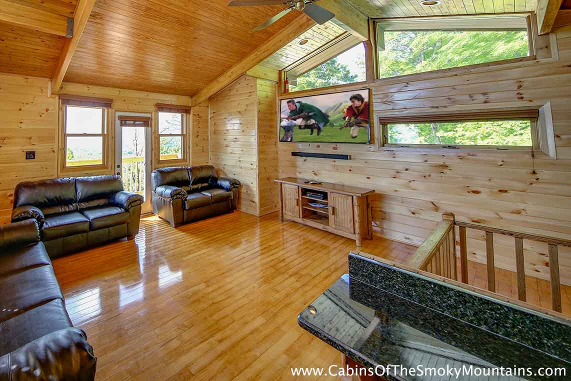 Click to enlarge. Pigeon Forge Cabin   Mountain Sunrise   9 Bedroom   Sleeps 32