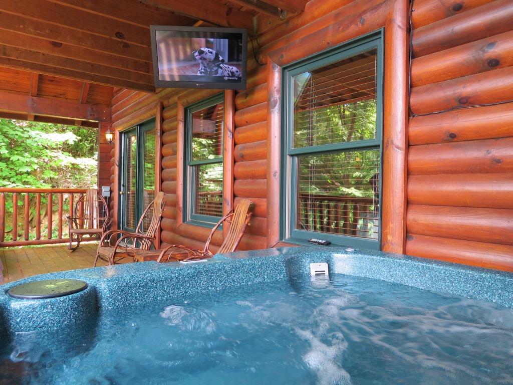 Gatlinburg Cabin Mountain View Theater Lodge 3 Bedroom