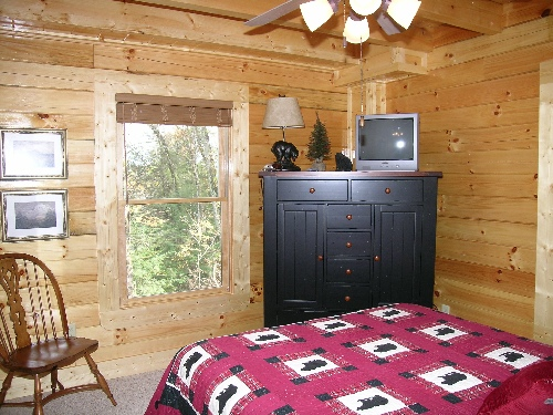 Pigeon forge cabin where bears play from for Little bear cabin in gatlinburg tn