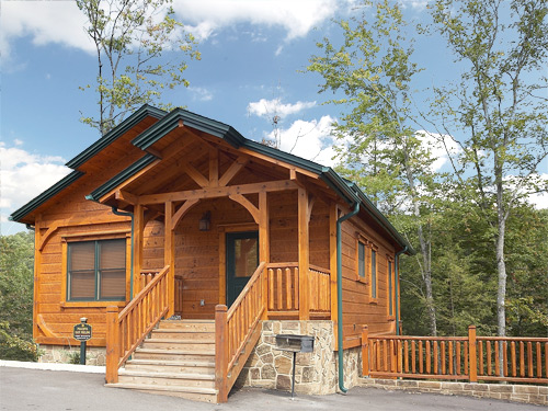 Gatlinburg cabin peaceful easy feeling 1 bedroom for Cabin rentals near smoky mountains