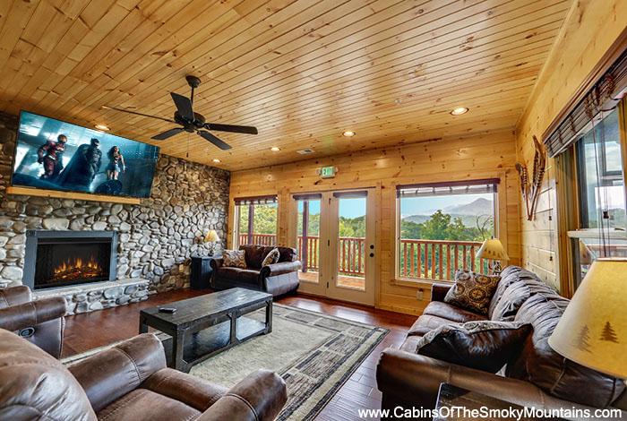 Gatlinburg cabin dreams come true 5 bedroom sleeps 19 for Premier smoky mountain cabin rentals
