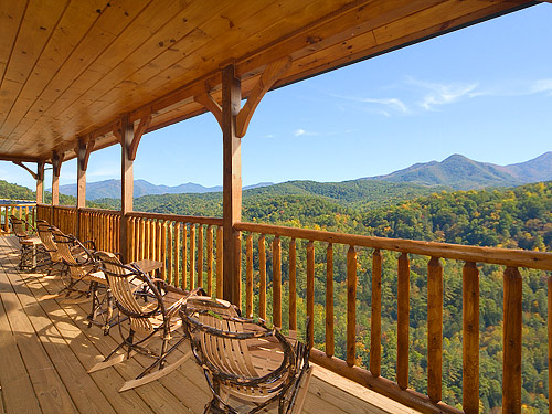 Gatlinburg cabin views above the rest 5 bedroom for Smoky mountain nc cabin rentals