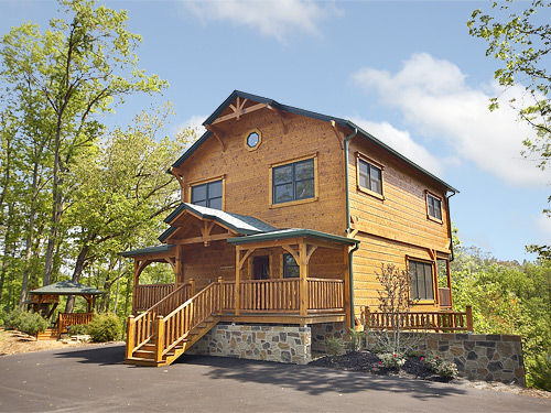 Pigeon forge cabin the treehouse 3 bedroom sleeps 10 for 3 bedroom cabins in smoky mountains