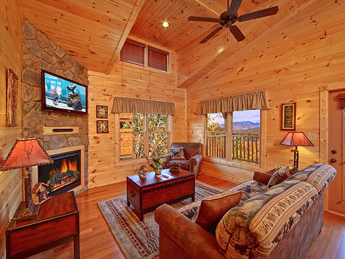Pigeon Forge Cabin Smoky Mountain Heaven 1 Bedroom Sleeps 8