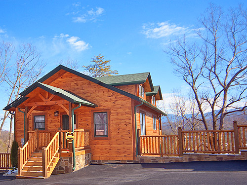 Pigeon forge cabin smoky mountain high 2 bedroom for Rent cabin smoky mountains