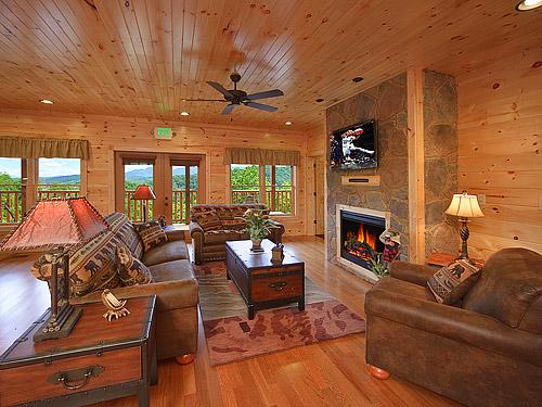 Gatlinburg cabin gatlinburg mansion 9 bedroom sleeps - Gatlinburg falls resort swimming pool ...