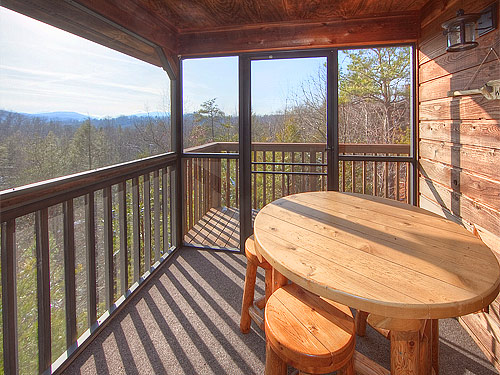 Pigeon Forge Cabin Misty Mountain View 1 Bedroom