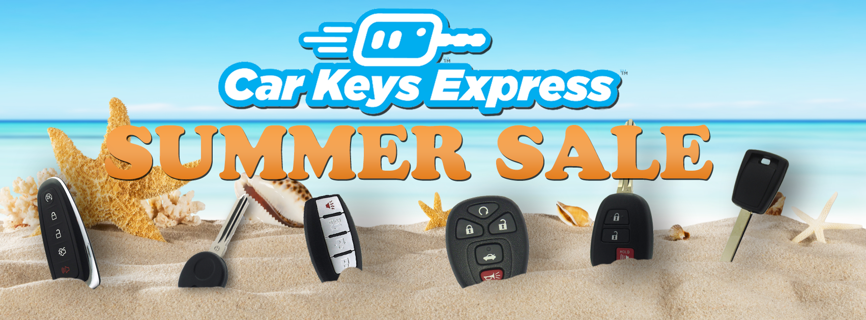Summer is already here at Car Keys Express! Save up to 25% off select items during the summer sales event!