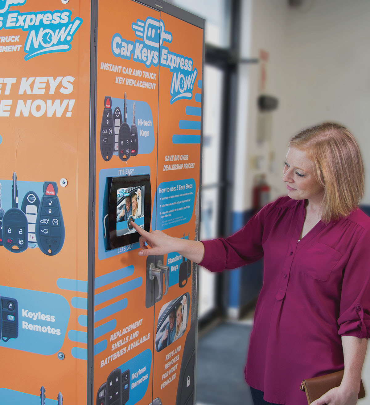 customer and key cabinet
