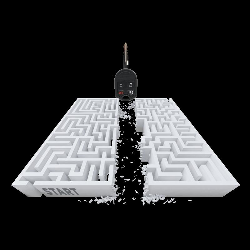 key-maze