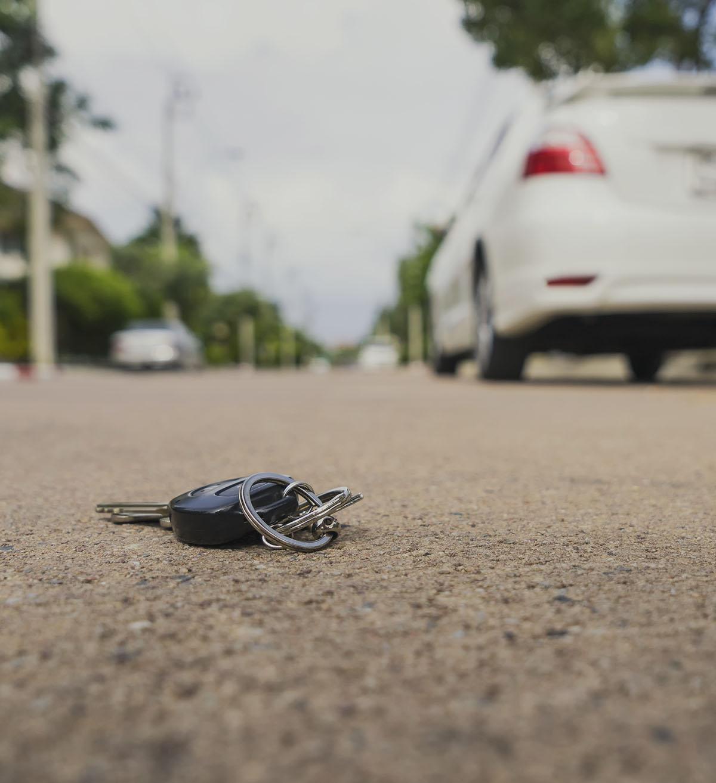 Lost keys on parking lot