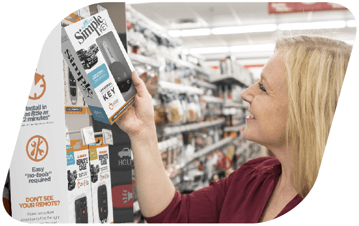 Customer Shopping at car keys express products