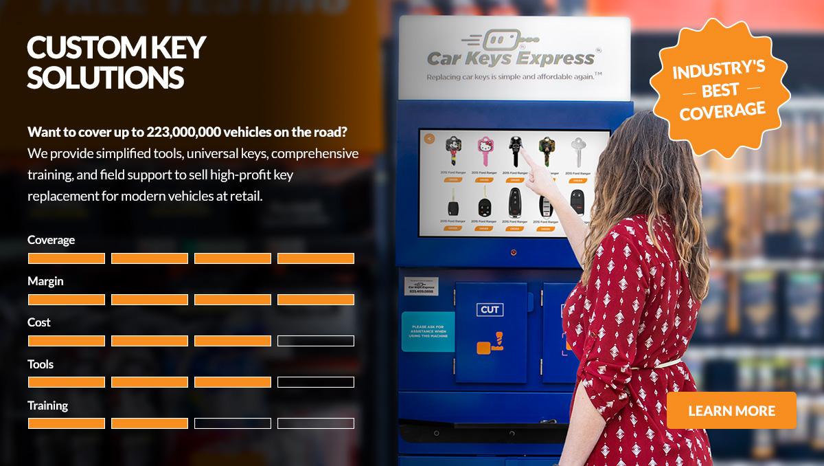 custom key cutting program for retail