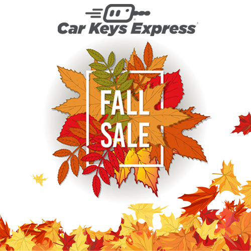 Summer has ended, the weather is getting colder, and the leaves are starting to change color. The annual Fall Sale is starting up at Car Keys Express! Save 20% off storewide on replacement keys and remotes.