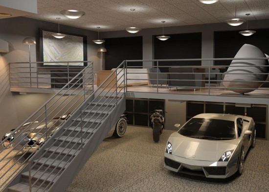 What is your dream garage i mean actual garage not cars for Luxury garage interiors