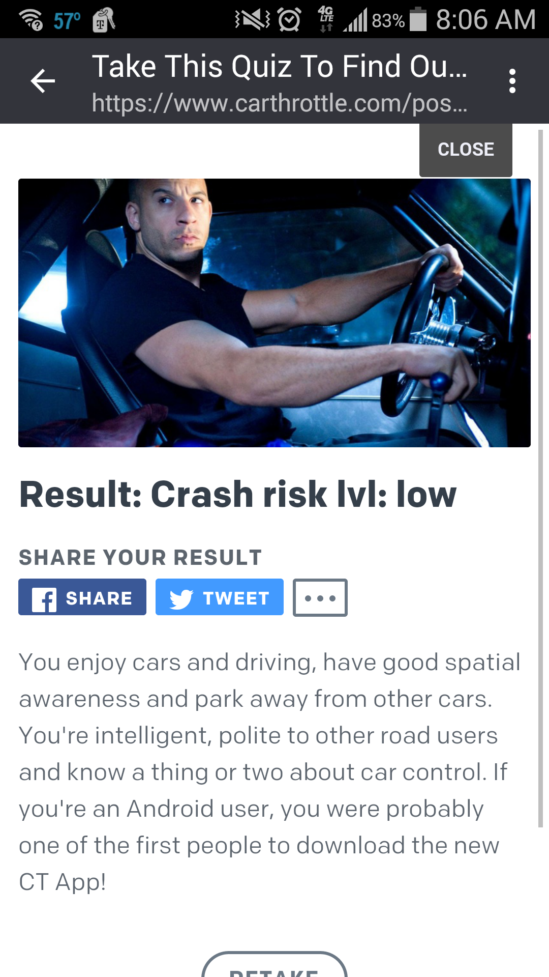 Take This Quiz To Find Out How Much Of A Crash Risk You Are